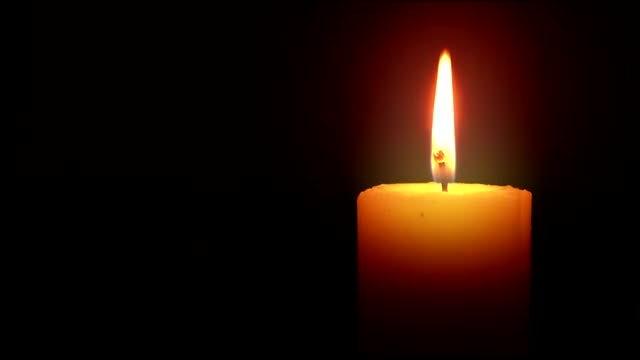 Illuminated Candle Loop: Stock Video