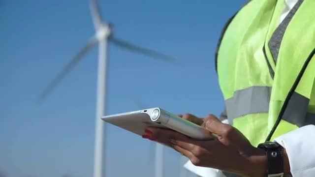 Engineer Using A Digital Tablet : Stock Video