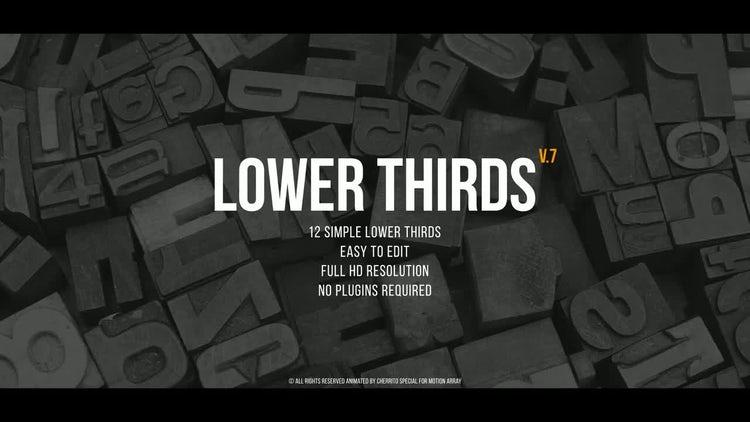 Lower Thirds v.7: Premiere Pro Templates