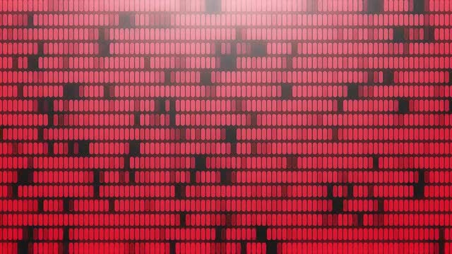 Red LED Disco Background: Stock Motion Graphics