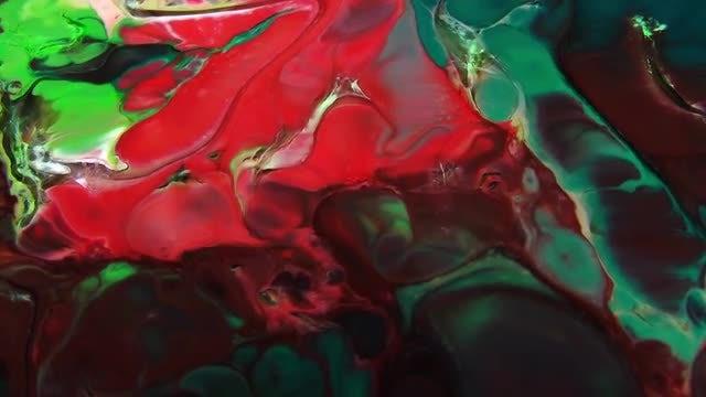 Texture Design Of Liquid Paints : Stock Video