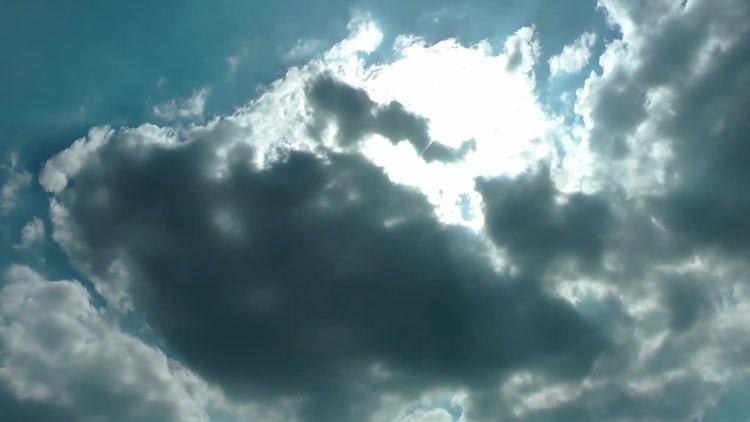 Dark Rain Summer Cumulus Clouds : Stock Video