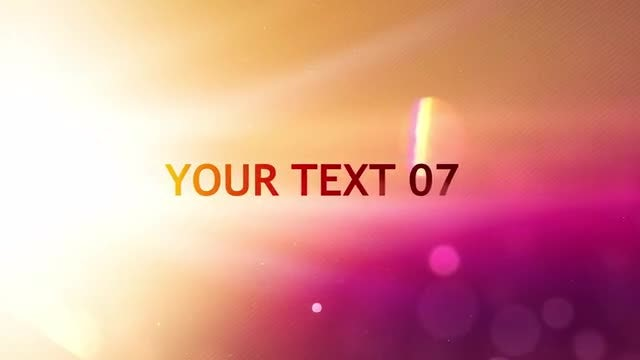Colorful Type: After Effects Templates