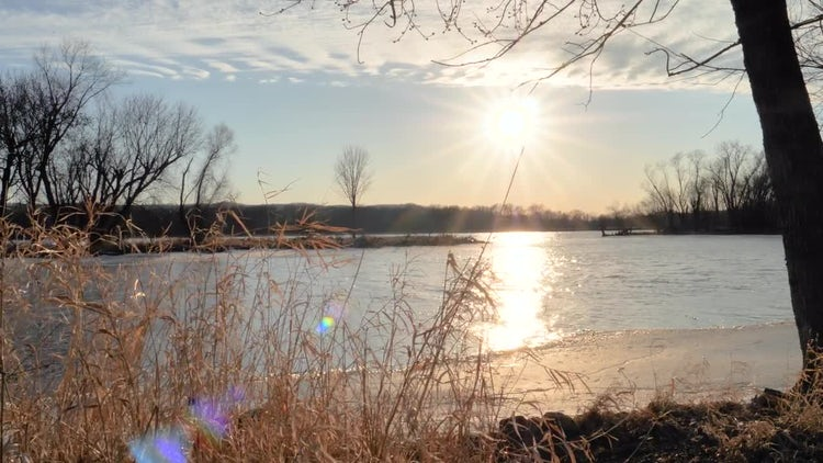 Tracking Shot Of Wide River: Stock Video