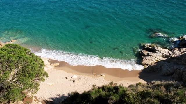 Aerial View Of Rocky Beach: Stock Video