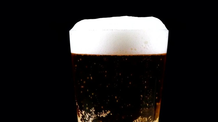 Glass Of Beer Rotating: Stock Video
