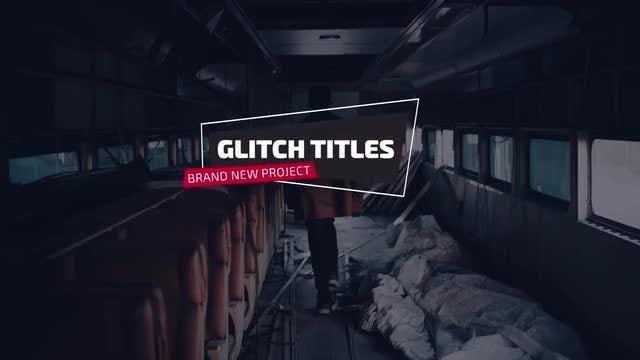 Modern Glitch Titles & Lower Thirds: Premiere Pro Templates