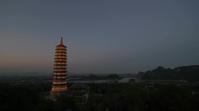 Bai Dinh Temple In Vietnam: Stock Video