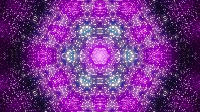 Lilac Disco Kaleidoscope: Stock Motion Graphics