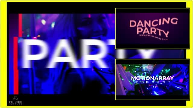 Party Dancing Opener: Premiere Pro Templates