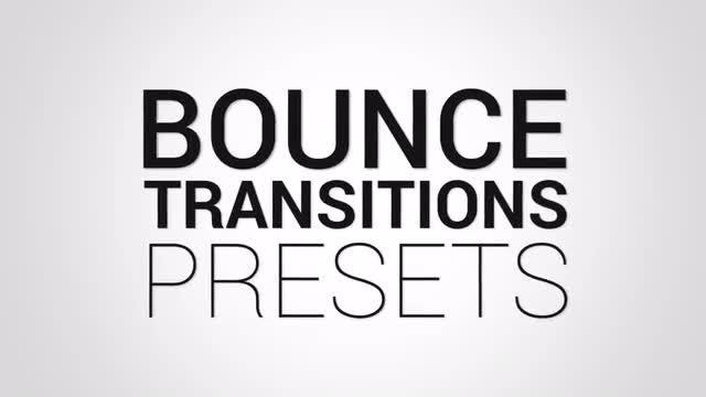 Bounce Transitions Presets: Premiere Pro Presets