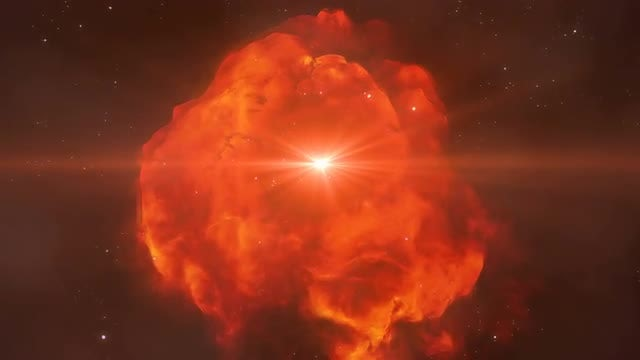 Red Space Nebula: Stock Motion Graphics