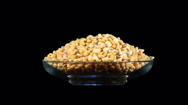 Dried Yellow Peas Rotating: Stock Video