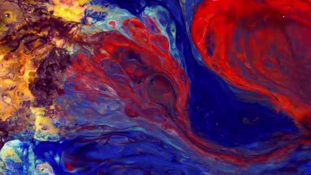 Magical Paint Ink Spread Explosion: Stock Video