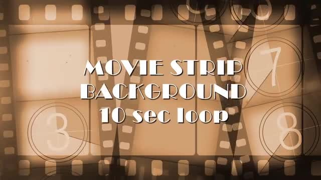 Film Strips Background & Overlay: Stock Motion Graphics
