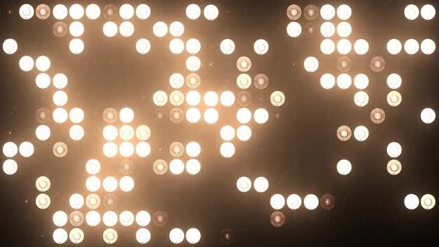 Gold LED Lights VJ Vackground: Stock Motion Graphics