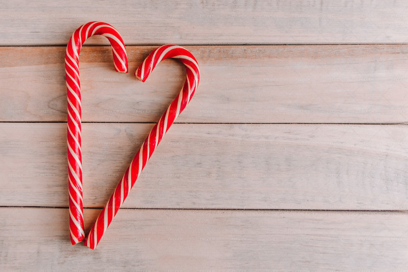 Two Christmas Candy Canes: Stock Photos