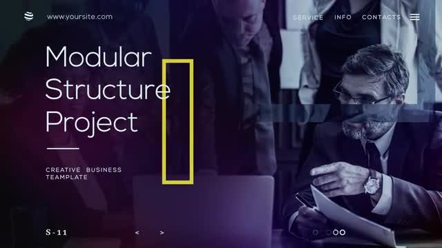 Dark Corporate Presentation : After Effects Templates