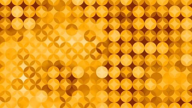 Yellow Diamond On Circles Pattern: Stock Motion Graphics