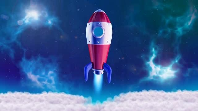3D Rocket Space Logo: After Effects Templates
