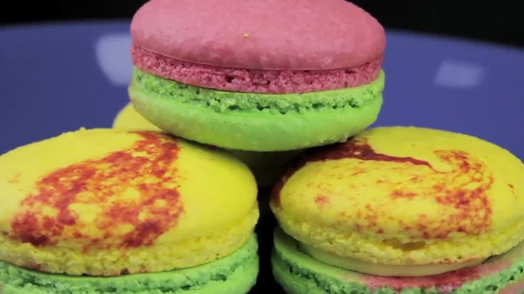 Colored Macaroons Rotating : Stock Video