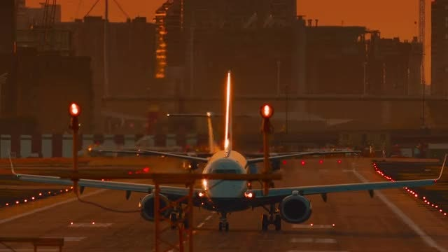 Aircraft Preparing To Take Off: Stock Video