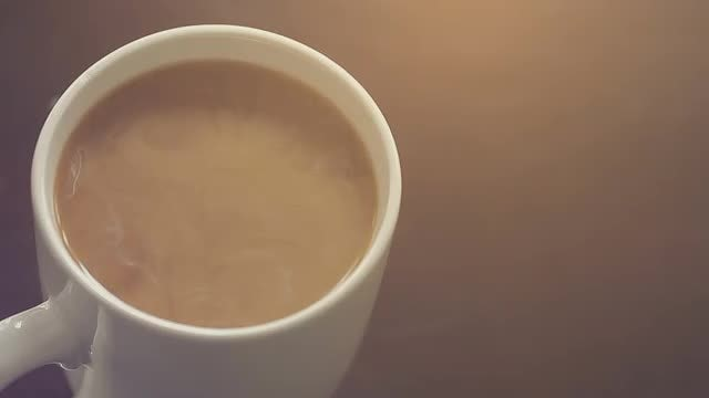 Coffee Cup On Table: Stock Video