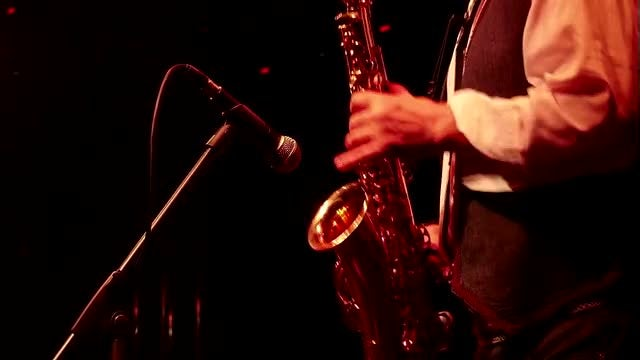 Male Saxophone Player In Action: Stock Video