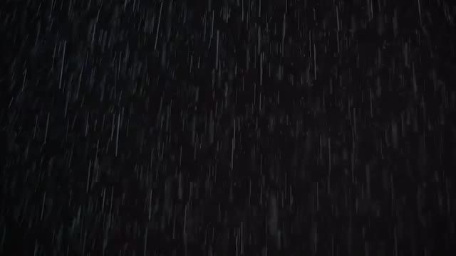 Real Rain And Snow At Night: Stock Video