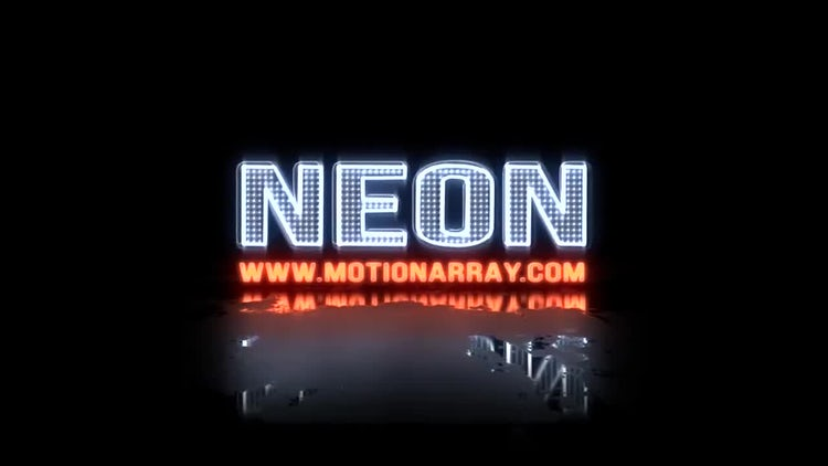 Neon Glitch Logo5: After Effects Templates