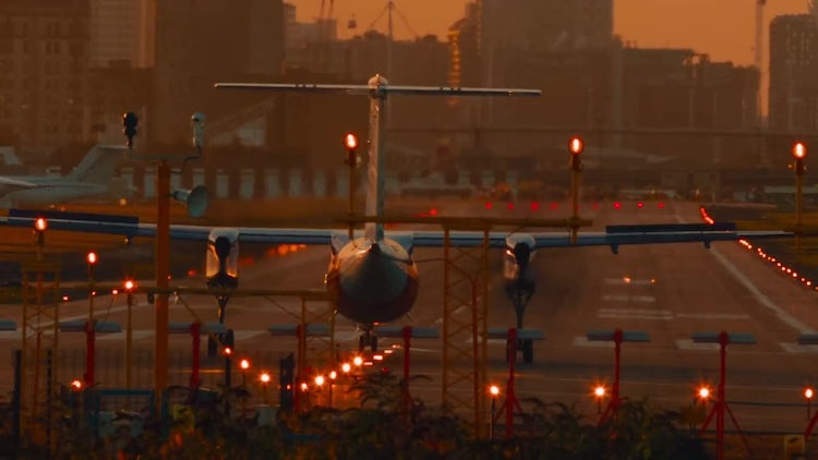 Airliner About to Take Off: Stock Video
