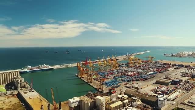 The Port Of Barcelona: Stock Video