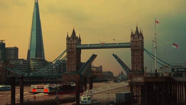 Iconic Tower Bridge In London: Stock Video