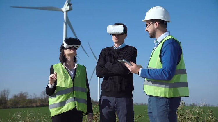 Engineers Confirm Plans With VR: Stock Video