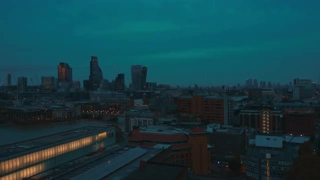 Panning Shot Of London City: Stock Video