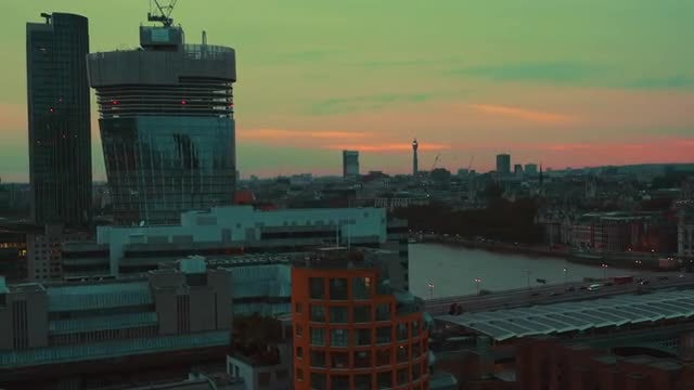 Panning Shot Of West London : Stock Video