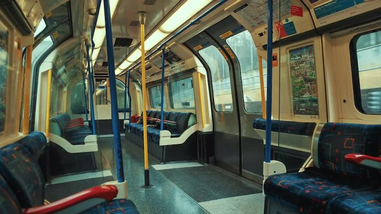 Empty Train Carriage: Stock Video