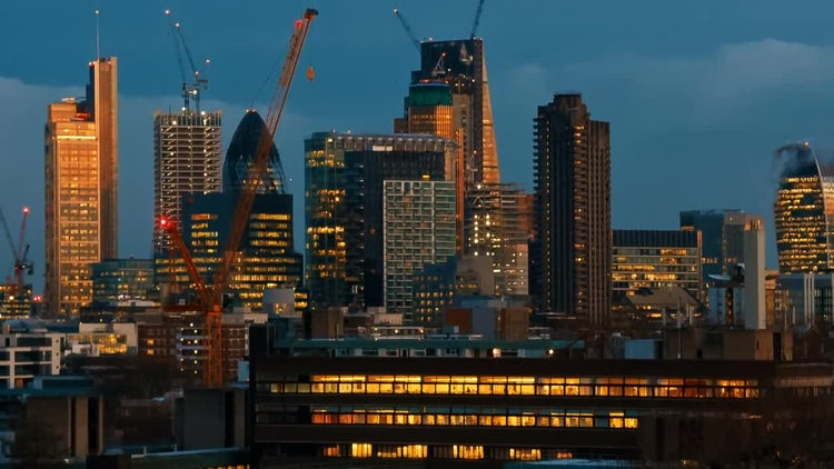 City Of London Skyline: Stock Video