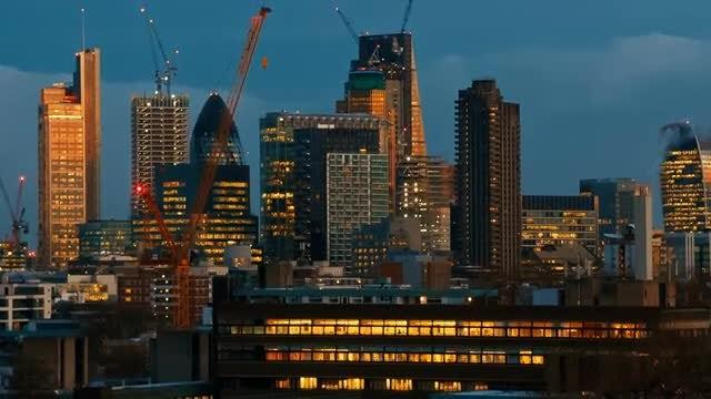 City Of London Skyline: Stock Video