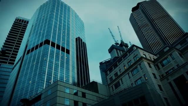 Skyscrapers In London: Stock Video