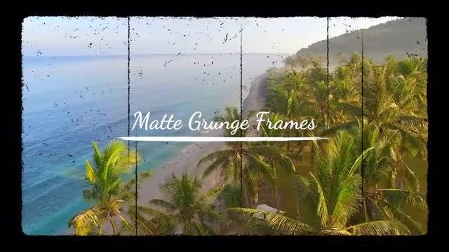 Matte Grunge Frames: Stock Motion Graphics