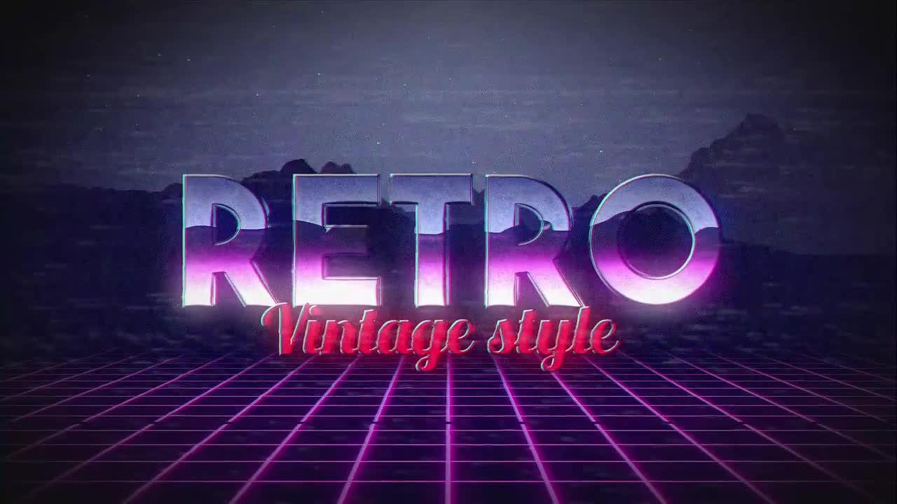 Retro Title - After Effects Templates | Motion Array