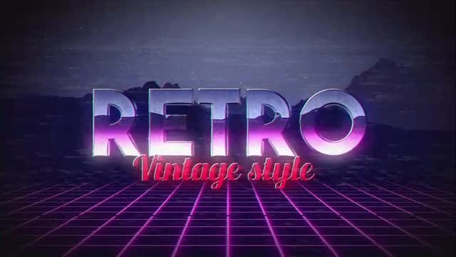 Retro Title: After Effects Templates