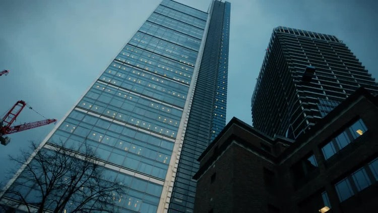 Financial District Buildings In London: Stock Video