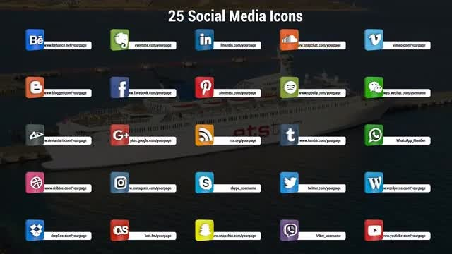 3D Social Media Icons: Premiere Pro Templates