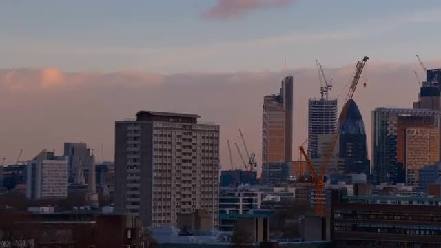 Panning Across London's Skyline: Stock Video
