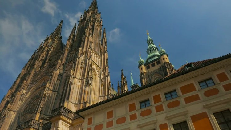 St. Vitus Cathedral In Prague: Stock Video