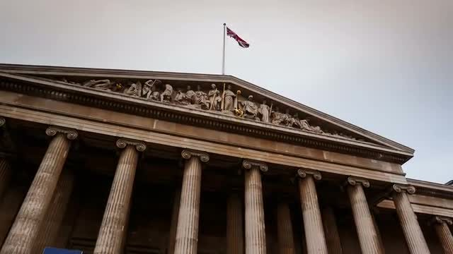 British Museum In London, UK: Stock Video