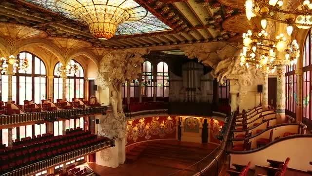 Barcelona Music Hall : Stock Video