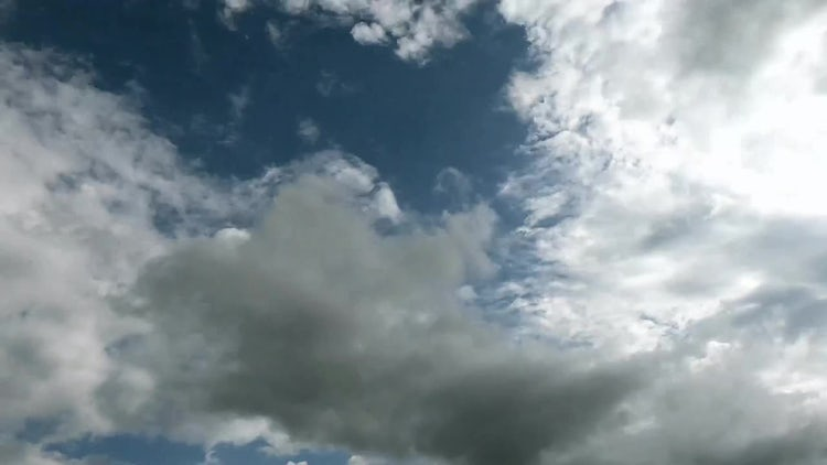 White Clouds Time Lapse: Stock Video